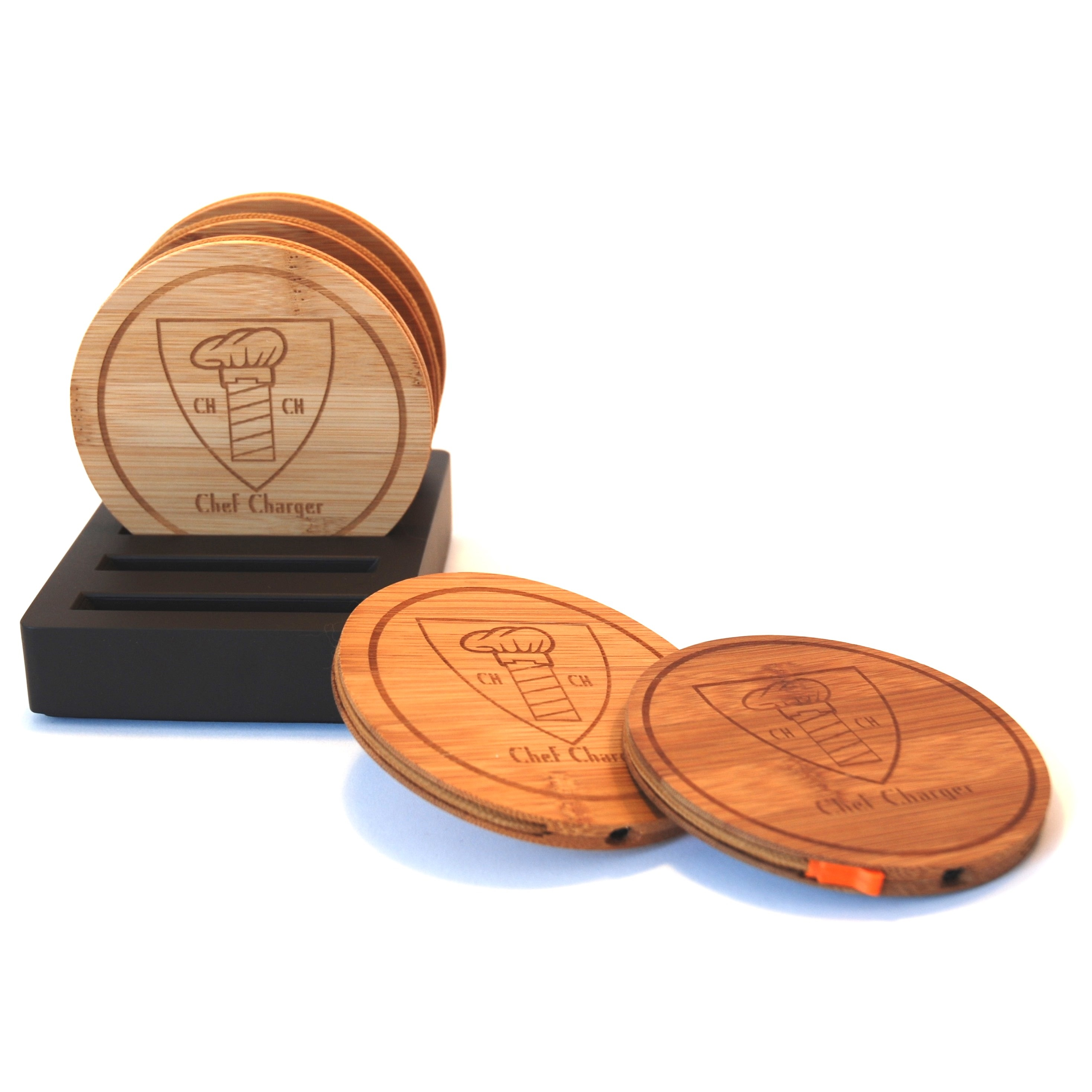 Bamboo Drink Coaster set of 5 Chef Charger